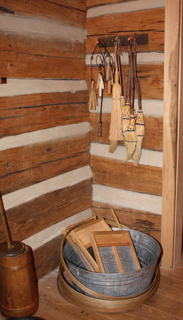 Earlyworks Museum - Corner of the Pioneer Cabin