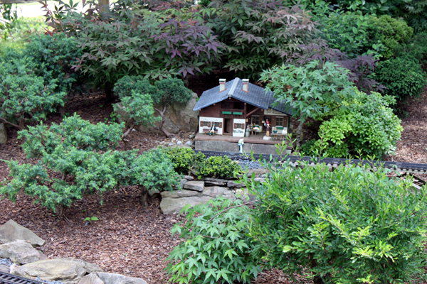 Miniature Garden Railway - Station in the Forest