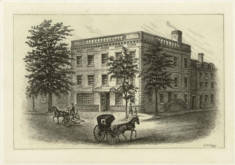 George Washington's House, Cherry Street, NYC, 1788