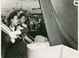 Launching the liberty ship SS George Washington Carver; Actress, singer Lena Horne (1943)