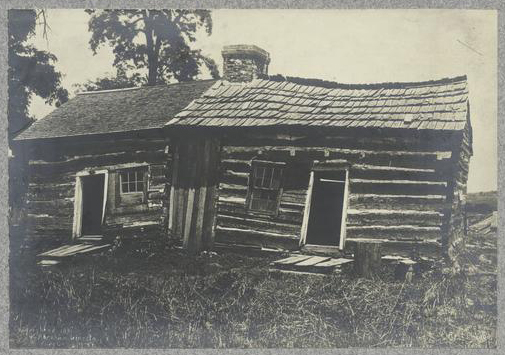 Lincoln Log Cabin, Courtesy of the NYPL