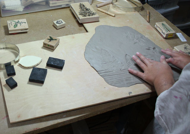 Handbuilding Pottery For Kids - Making a Wall Plaque