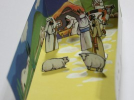 Color Nativity Diorama Printable