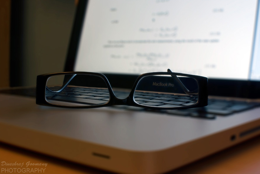 Laptop and Reading Glasses by dgoomany on flickr
