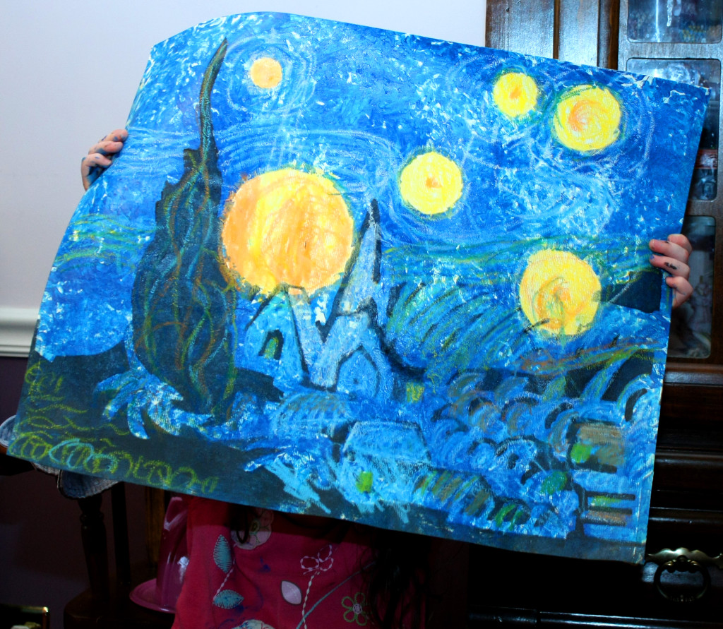 Starry Night Painting by Child