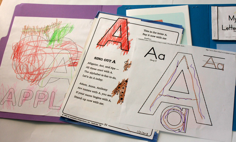 Letter A Lapbook Inside left