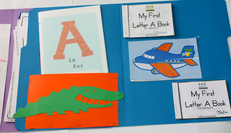 Letter A Lapbook Inside right