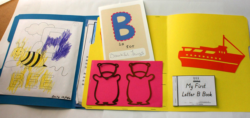 Letter B Lapbook Inside All