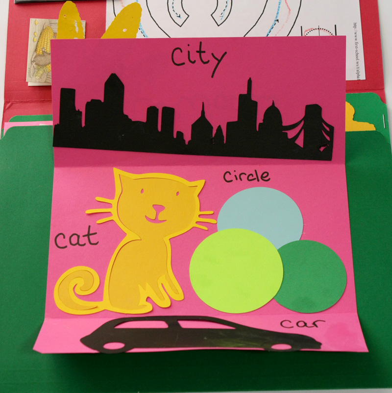 Letter C Lapbook C Words insert