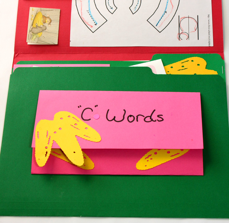 Letter C Lapbook Inside c words brochure