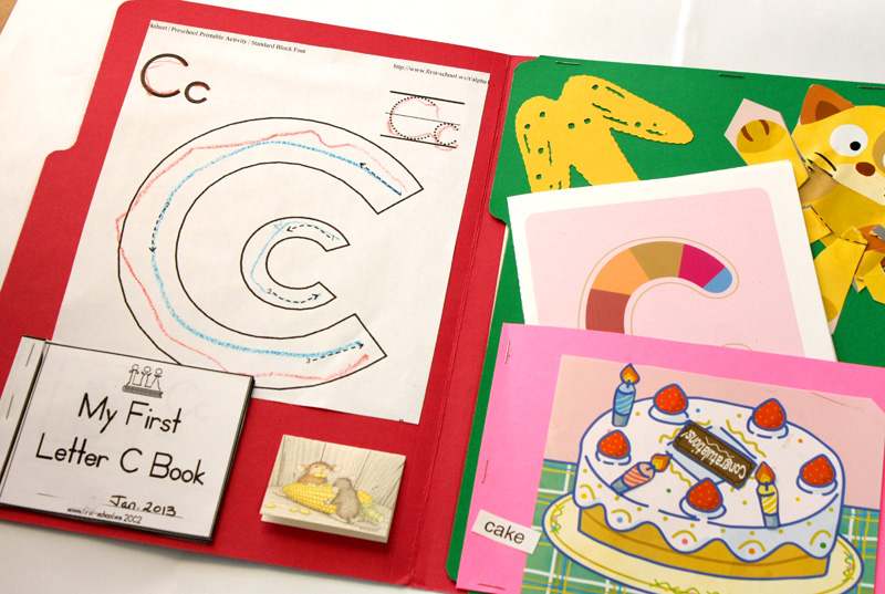 Letter C Lapbook Inside left