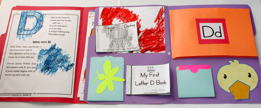 Letter D Lapbook Inside All
