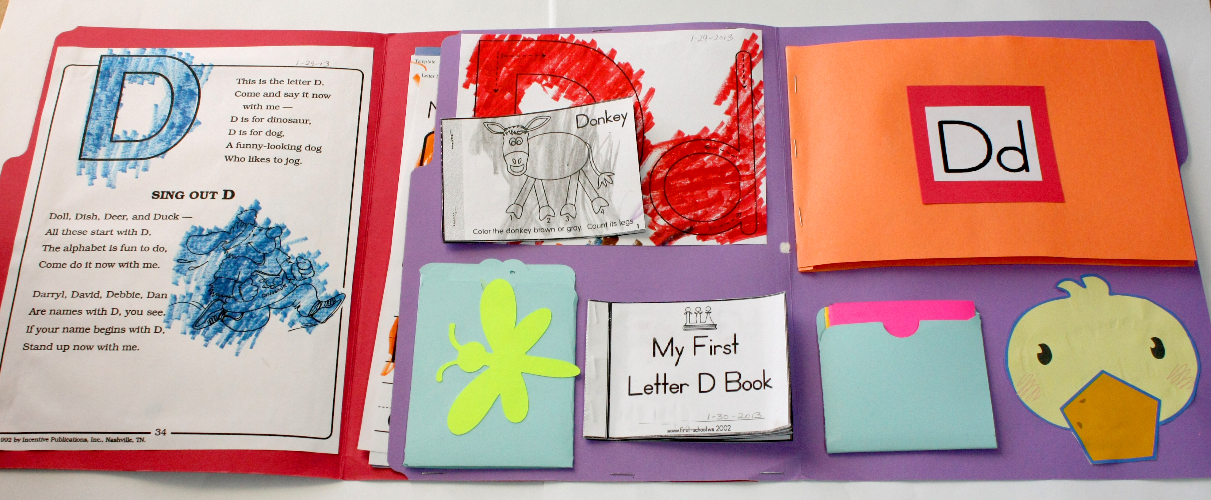 Letter D – Alphabet Lapbook Resources & Example