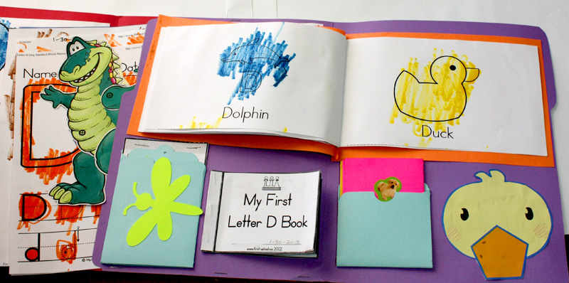 Letter D Lapbook Inside Right