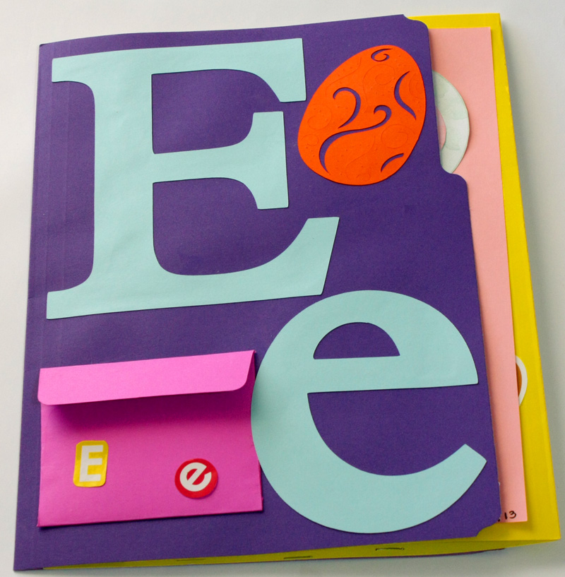 Letter E Alphabet Lapbook Resources & Example