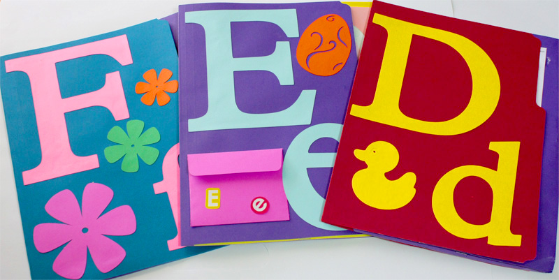 Letters DEF Lapbooks