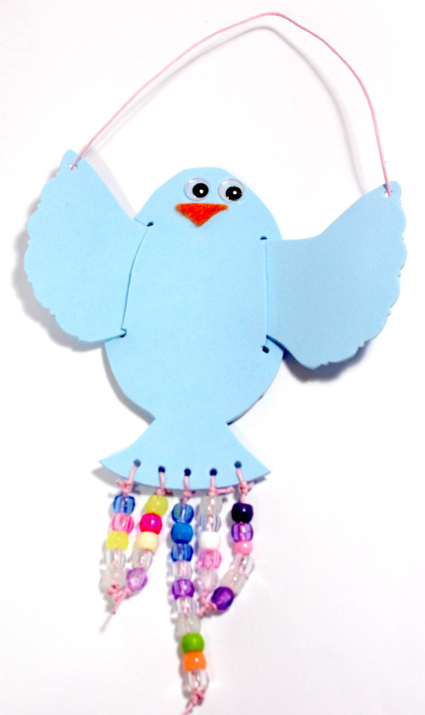 Bird with Beads Craft from 20 Minute Crafts