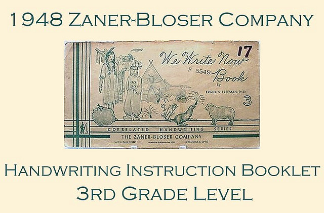 Zaner-Bloser Handwriting Instruction Booklet from EraPhernalia Village