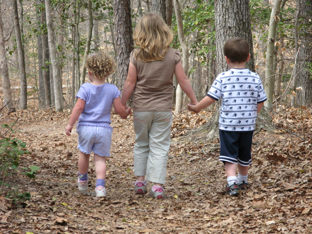 Children Walking on Trail by vastateparksstaff on flickr
