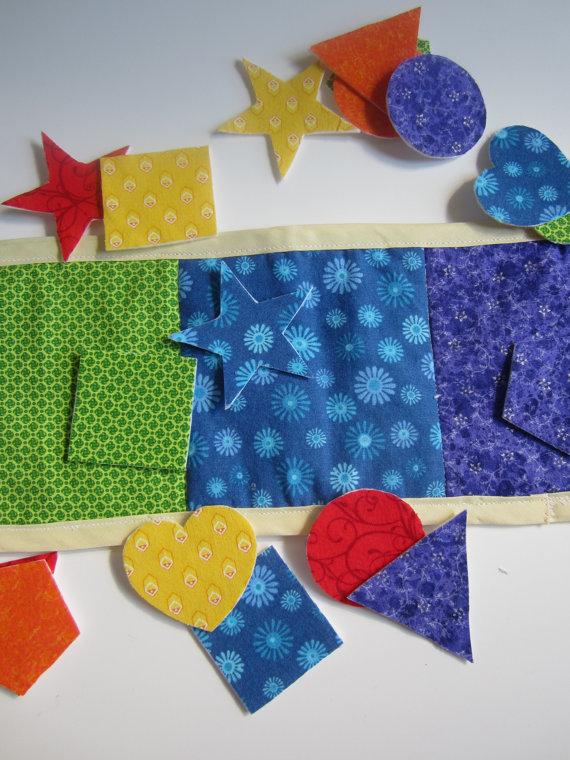 Mama D's Closet Montessori Inspired Shape Mat Game