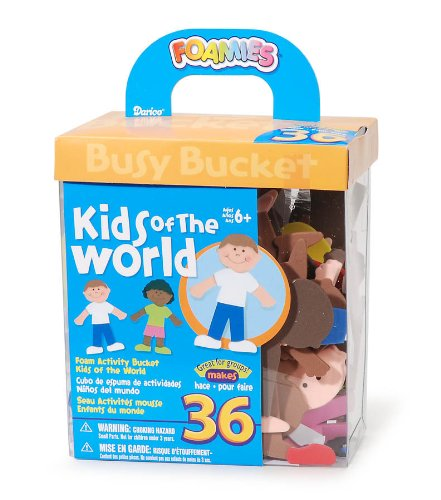 Foam Activity Bucket - Kids of the World
