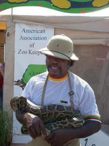 Zoo Keeper with Snake by AWA on flickr