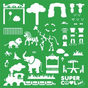 SuperCool Art Kit Day at the Zoo Template