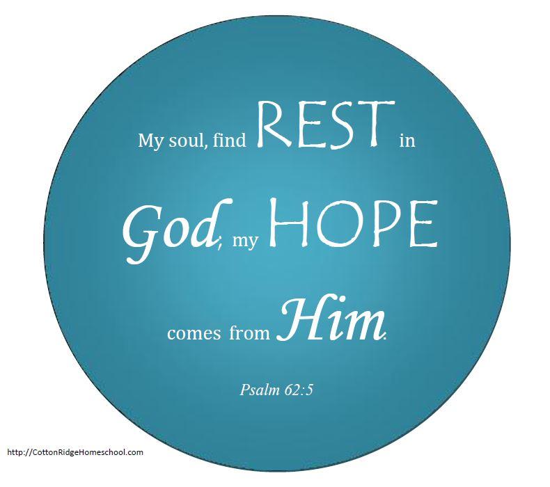 Psalm 62:5 Free Printable