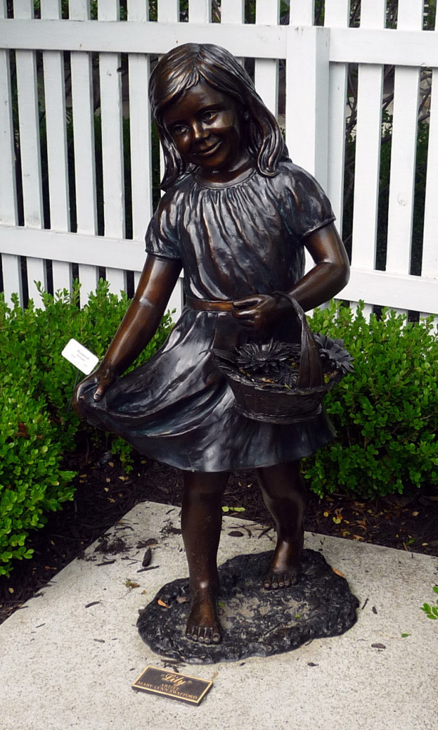 Bronze Figure at the Deanna Rose Children's Farmstead