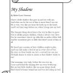 My Shadow, Robert Louis Stevenson