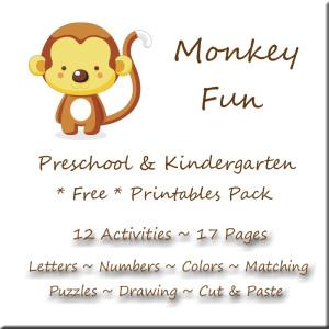 Monkey Fun Free Printables Button B