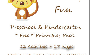 Monkey Fun Free Printables Button B