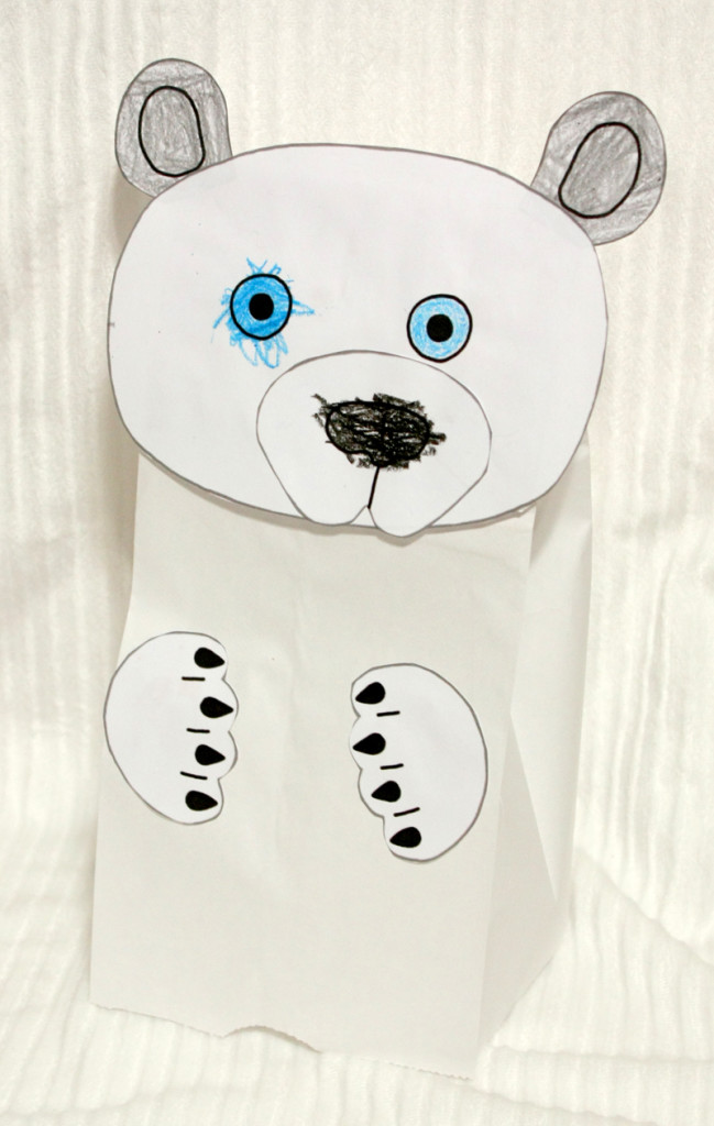 Polar Bear Puppet Made by M