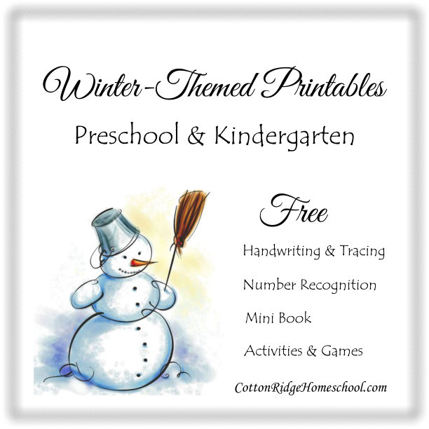Winter Free Printables Button CRH