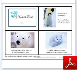 Winter Mini Book First Page