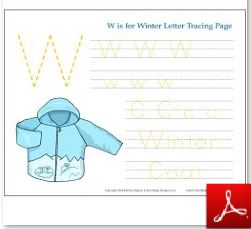 Winter Tracing Page