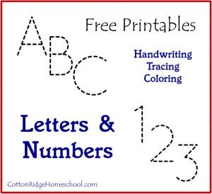 ABC 123 Printables Button