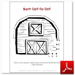 Barn Dot to Dot
