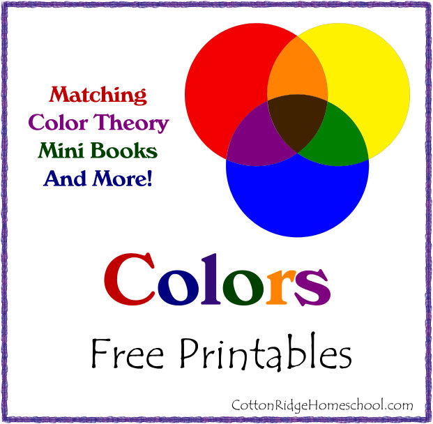 Colors and Matching Printables Button