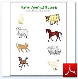 Farm Animal Babies Matching