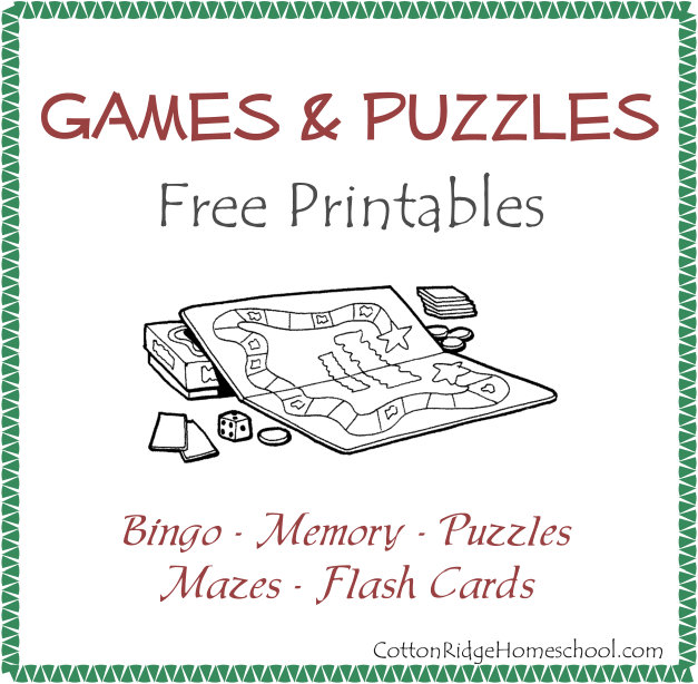 Games Printables Button