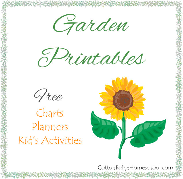 Garden Printables ~ Free Charts u0026 Planners Plus Activities For Kids