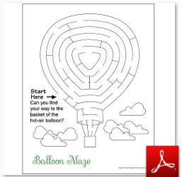 Hot Air Balloon Maze