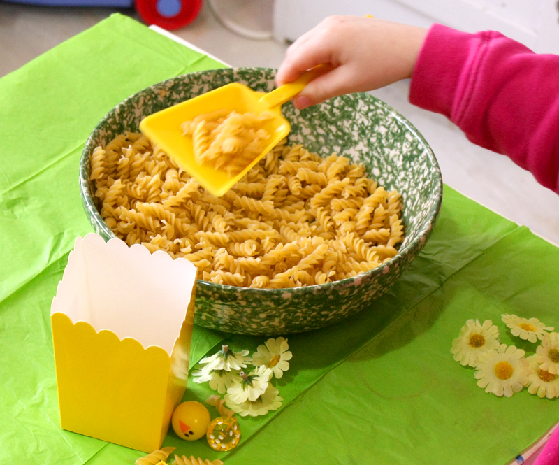 My Sensory Box Pasta Scooping