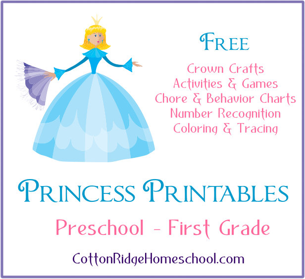 Princess Printables Button Square First Grade