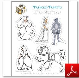 Princess Stick Puppets