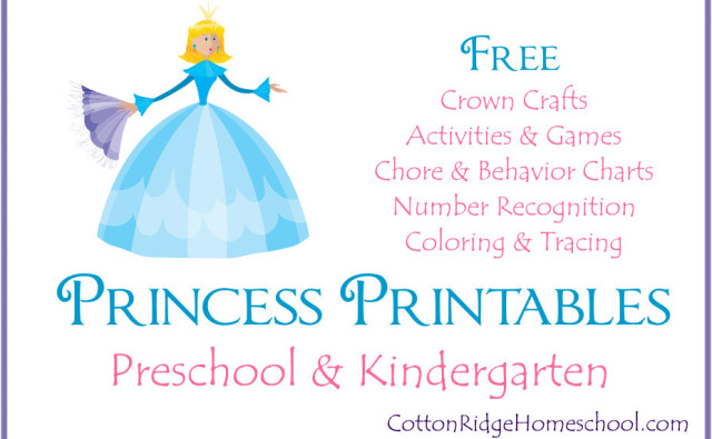 Princess printables Button Feature