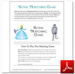Royal Matching Game no lines