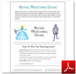 Royal Matching Game with lines