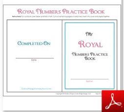 Royal Numbers Practice Book